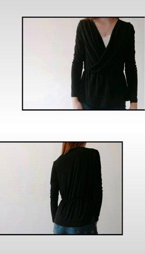 Amisu Camisa cruzada negro