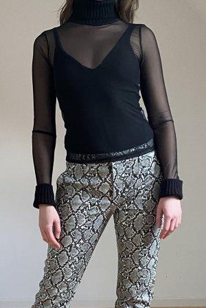 Zara Top met rolkraag zwart