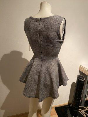 Blusa tipo body negro-gris