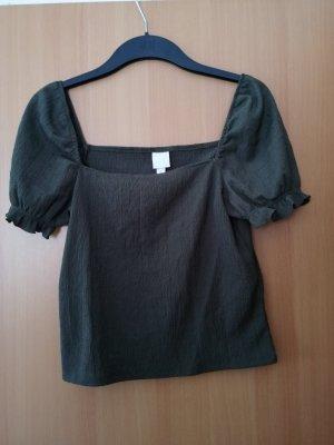 H&M Chemise côtelée noir
