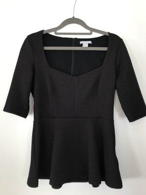 H&M Peplum Top black