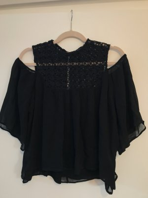 Zara Woman Top cut-out nero