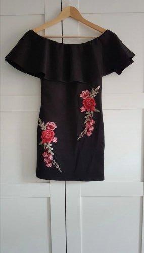 schwarzes Off Shoulder Kleid
