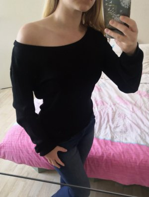 Gina Camisa tipo Carmen negro-color plata