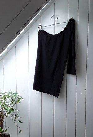 Melrose Camisa de un solo hombro negro