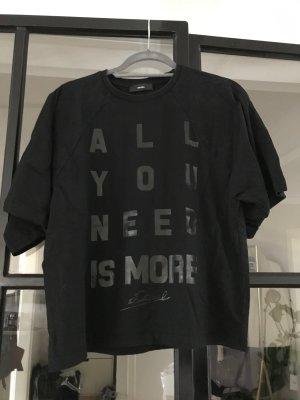 Schwarzes oversize T-shirt von Diesel.
