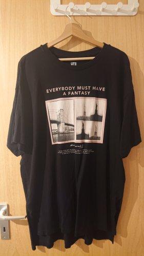 schwarzes oversize Tshirt von Uniqlo
