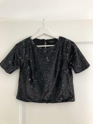 Topshop Cropped Shirt black