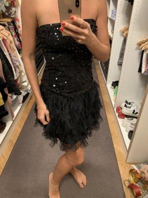 Schwarzes Partykleid mit Pailletten
