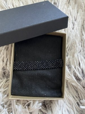 Armband met parels zwart