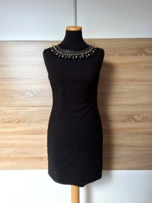 Schwarzes Perlen Kragen Kleid von Zara, Gr. M