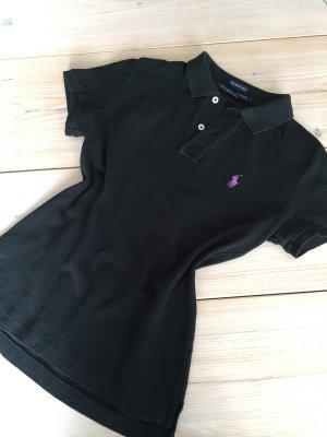 schwarzes Pikee Polo Shirt von Ralph Lauren