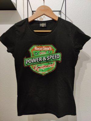 schwarzes Pin-up girl Shirt von Race Gear