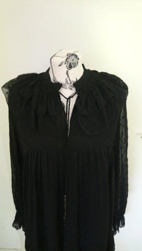 Schwarzes Plumentis-Kleid Zara M