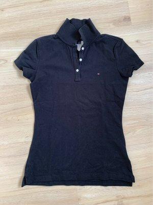 Schwarzes Poloshirt Tommy Hilfiger Größe S