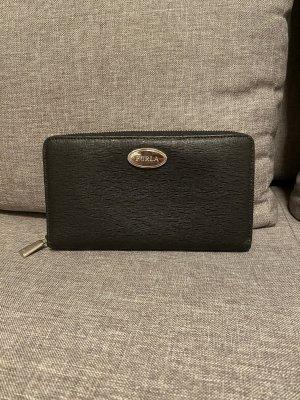 Schwarzes Portemonnaie von FURLA aus Saffiano Leder