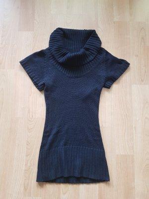Schwarzes Pulloverkleid mir kurzen Armen von Tally Weijl in der Größe xs