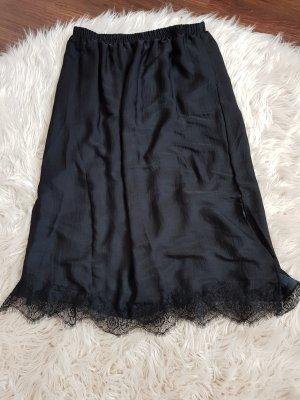 Amisu Koronkowa spódnica czarny