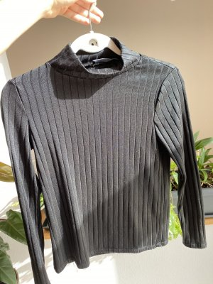 Mango Turtleneck Shirt black