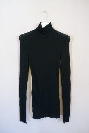 ARKET Camisa de cuello de tortuga negro lana merina