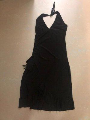 Jela London Vestido línea A negro tejido mezclado