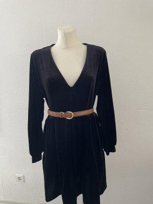 Schwarzes Samtkleid mini gr L H&M