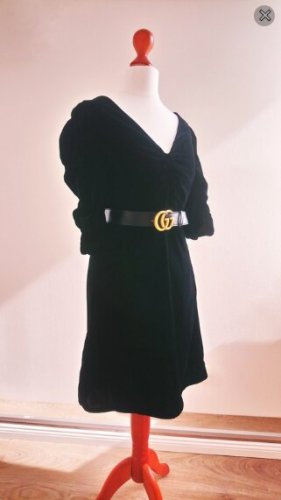 Mango Vestido ceñido de tubo negro-gris antracita tejido mezclado