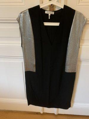 Schwarzes Sandro Mini-Kleid mit seitlichen Metallischen Highlights