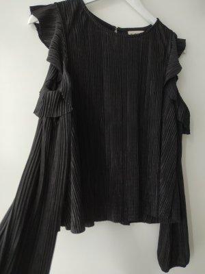 24Colours Blusa de manga larga negro