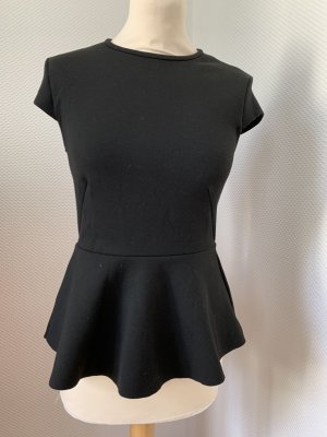 Hennes & Mauritz Peplum Top black polyester