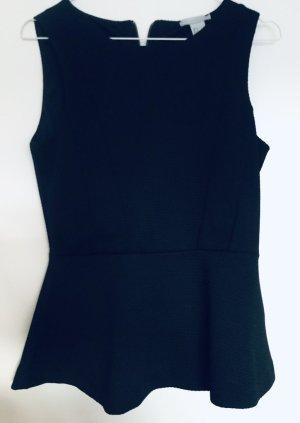 H&M Top z baskinką czarny