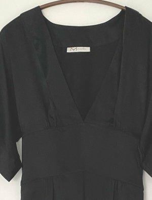 schwarzes Seidenkleid