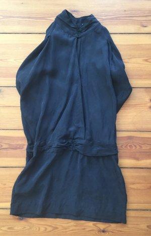 American Retro Mini vestido negro Seda