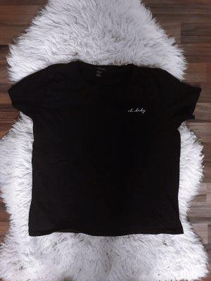 Amisu Prążkowana koszulka czarny