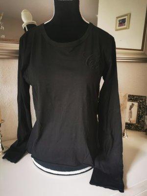 schwarzes Shirt, long sleeve shirt, S, Cheyenne