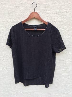 Mango Camisa de malla negro