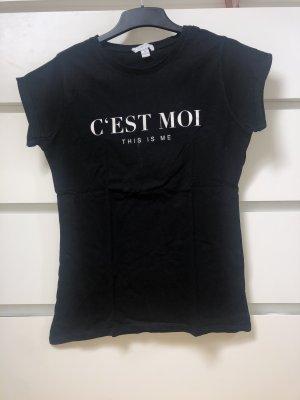 Schwarzes Shirt mit Aufdruck