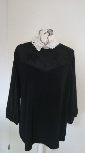Shirt Tunic white-black