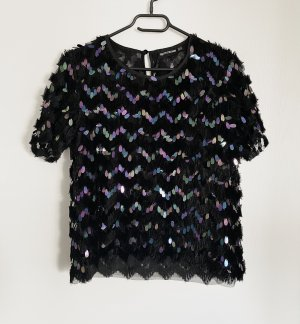 schwarzes Shirt mit bunten Pailletten NEU
