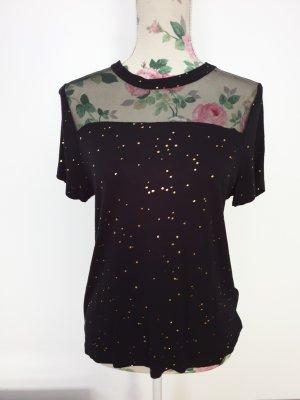Schwarzes Shirt mit Gold Details von Only