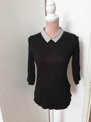 schwarzes Shirt mit Kragen