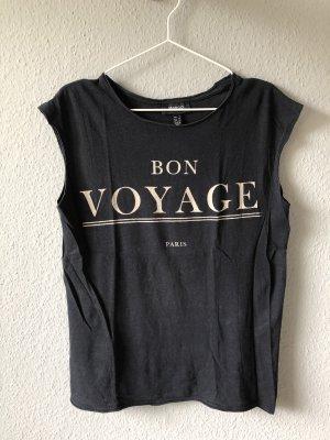 Schwarzes Shirt mit Lettering Print