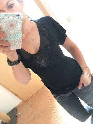 schwarzes Shirt mit Pailletten