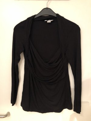 Singh Madan Cowl-Neck Shirt black