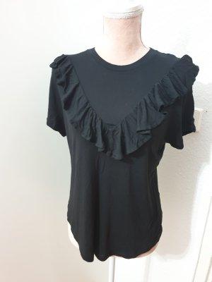 schwarzes Shirt mit Rüschen