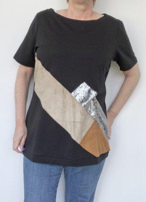 Alba Moda T-shirt nero-beige Cotone