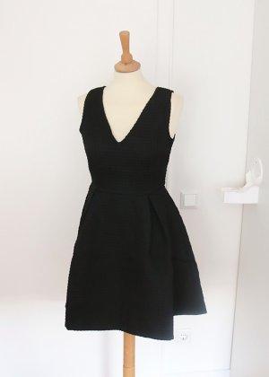 schwarzes Skaterkleid aus festem Strukturstoff Sophyline S Neu