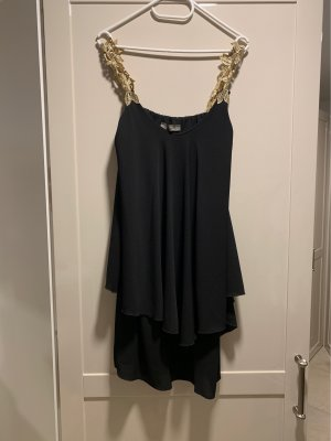 Glam Pinafore dress black-gold-colored
