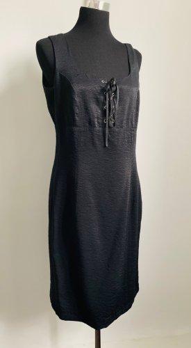Schwarzes Sommerkleid -Business Kleid gefüttert 38/40