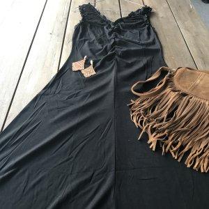 Otto Asymetryczna sukienka czarny Wiskoza